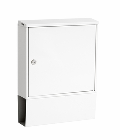 Knobloch Portland Locking Surface Mount Mailbox in Pure White