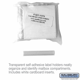 Salsbury 1070 Label Holders Bag Of (50)