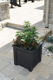 Lakeland Patio Planter 16 x 16 - Black