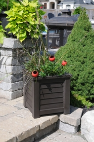 Lakeland Patio Planter 16 x 16 - Espresso