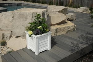 Lakeland Patio Planter 16 x 16 - White