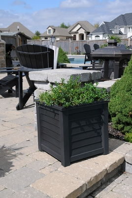 Lakeland Patio Planter 20 x 20 - Black