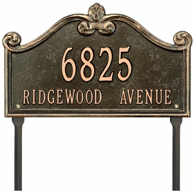 Lancaster Standard Two Line Lawn Address Sign