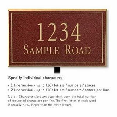 Salsbury 1410MGNL Signature Series Address Plaque