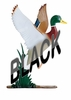 Whitehall Large Bell with Duck Ornament Black