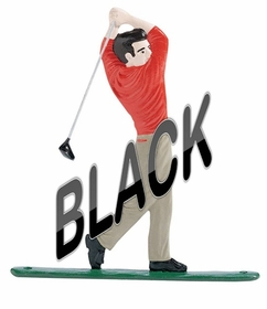 Whitehall Large Bell with Golfer Ornament Black