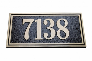 Large Double Border Plaque - Aluminum