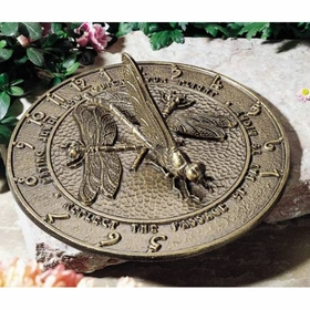 Whitehall LARGE Dragonfly Sundial