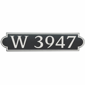 Large Horizontal Wall Mount Address Plaque Nickel Black - Rounded