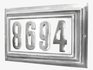 Edgewood Large Lighted Address Plaque with Cast Aluminum Numbers - Pewter Frame