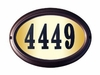 Edgewood Oval Lighted Address Plaque with Black Polymer Numbers (Choose Frame Color)