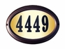 Edgewood Oval Lighted Address Plaque with Cast Aluminum Numbers (Choose Frame and Numbers)