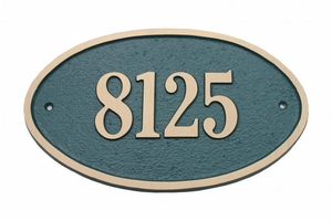 Large Oval Plaque - Aluminum
