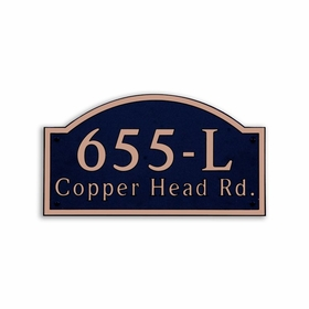 Large Wall Mount Horizontal Address Plaque Copper Black - 655L