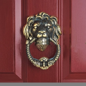 Whitehall Leo Knocker (Solid Brass) - Verdigris Finish