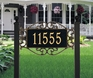 Lewis Fretwork - Estate Lawn Address Sign - One Line