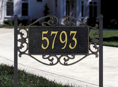 Lewis Fretwork - Standard Lawn Address Sign - One Line