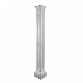 Liberty Lamp Post (decorative sleeve only) in White