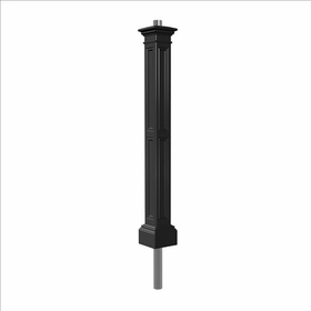 Liberty Lamp Post (with aluminum ground mount) in Black
