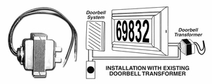 DBT-4200 Lighted Address Plaques - Replacement Door Bell Transformer