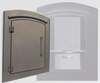 Manchester Security Locking Column Mount Mailbox with Plain Door in Bronze (Stucco Column Not Included)