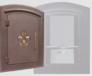 Manchester Locking Fleur de Lis Column Mailboxes