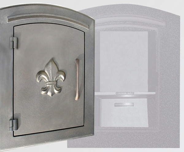 Manchester Security Locking Column Mount Mailbox With Fleur De Lis Emblem  In Bronze Stucco Not Included Column Mount Mailbox L51