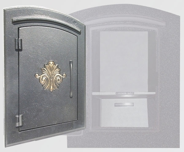 Manchester Security Locking Column Mount Mailbox With Scroll Emblem In  Bronze Stucco Not Included Column Mount Mailbox70