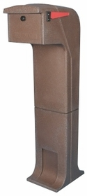 Locking/Impact Resistant Rear Access Mailbox in Brown