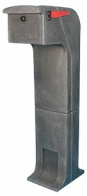 Locking/Impact Resistant Rear Access Mailbox in Charcoal