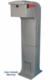 Locking/Impact Resistant Rear Access Mailbox in Light Gray