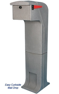 Locking/Impact Rear Access Resistant Mailbox in Light Gray