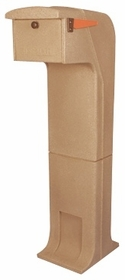 Locking/Impact Resistant Rear Access Mailbox in Sandstone
