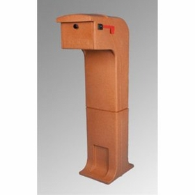 Locking/Impact Resistant Rear Access Mailbox in Terracotta