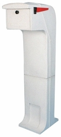 Locking/Impact Resistant Rear Access Mailbox in White
