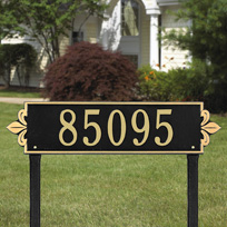 Lyon Horizontal - Estate Lawn Address Sign - One Line