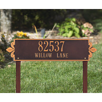 Lyon Horizontal - Estate Lawn Address Sign - Two Line