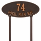 Madison Oval - Estate Lawn Address Sign - Two Line