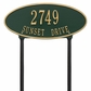 Madison Oval - Standard Lawn Address Sign - Two Line