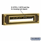 Salsbury 4075A Mail Slot Deluxe Solid Brass Antique Finish