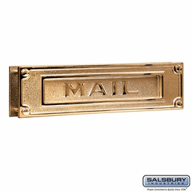 Mail Slot - Deluxe - Solid Brass