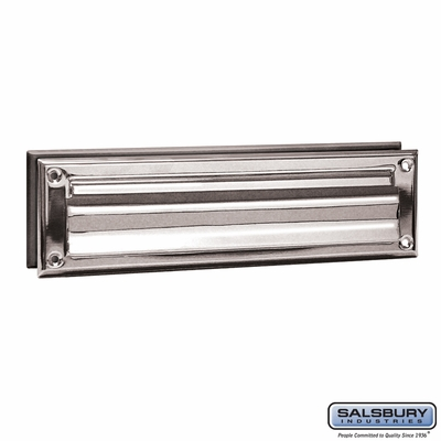 Salsbury 4045C Mail Slot Standard Magazine Size Chrome Finish