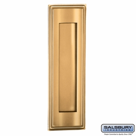 Salsbury 4085B Mail Slot Vertical Brass Finish