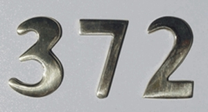 "2"" Brass Numbers (Adhered to Address Plaque by Manufacturer)"