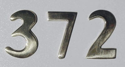 """2"""" Brass Numbers (Adhered to Address Plaque by Manufacturer)"""