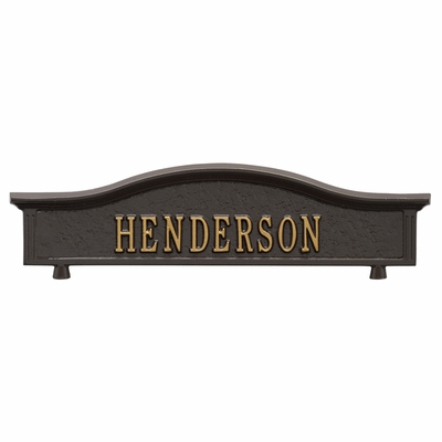 Whitehall Mailbox Address Topper (Choose Color)