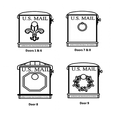 Mailbox Door 0, 1, 6, 7, 8, 9 (Choose One)