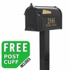 Whitehall Premium Streetside Mailbox Package in Black