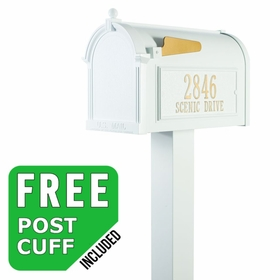 Whitehall Premium Streetside Mailbox Package in White