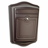 Maison Powder-Coated Cast Aluminum Locking Wall-Mount Mailbox in Rubbed Bronze